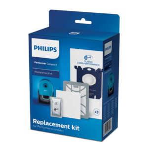 Комплект аксесоари за подмяна 3 x торбички за прах (s-bag® CLP) 1 х филтър Super Clean Air 1 x входящ филтър за мотор 1 x освежител за въздух (s-fresh®)